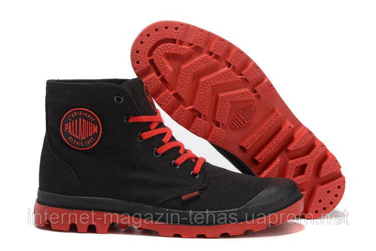 "Мужские кеды Palladium Pampa Hi Black Red  - Интернет-магазин ""Steptandem"" в Киеве"