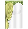 """Набор ажурных модулей  """"Ампир 2"""" на жесткой основе  зеленый цвет (222) с ажурным зеленым подхватом"""