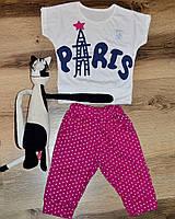 Летний костюм для девочки с БРИДЖАМИ Париж Склад 2