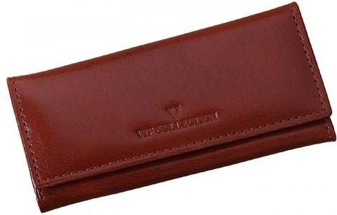Чехол для ключей Vip Collection 02.C.NY кожаный, коричневый