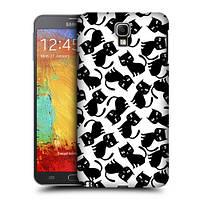 Пластиковый чехол для Samsung Galaxy Note3 узор Компания черных котов
