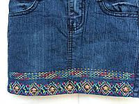 Детская юбка для девочки 1-5 лет,джинсовая