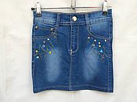 Детская юбка для девочки 5-10 лет,джинсовая