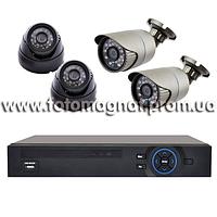 Комплект видеонаблюдения(готовое видеонаблюдение) KN7904DP