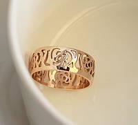 Кольцо CHANEL РОЗА ювелирная бижутерия золото 14К