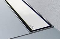 Душевой лоток пристенный с горизонтальным выпуском 65см MCH CH-650K2 с накладкой полированная сталь