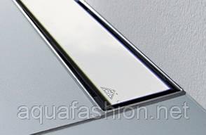 Душевой лоток пристенный 65см MCH с накладкой полированная сталь