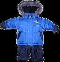 Детский зимний термокомбинезон: штаны и куртка на флисе и отстегивающейся овчине р. 92 РСЦ5