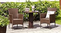 """Набор мебели на двоих """"Rest"""" для отдыха. Коричневого цвета"""