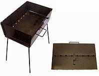 Мангал - чемодан на 6 шампуров