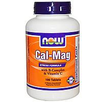 Комплекс от стресса, с кальцием и магнием и В-комплексом и т.д. 100 таблеток, Now Foods. Сделано в США.