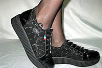 Удобные кроссовки на шнурках(толстая подошва)
