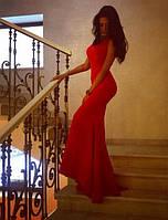 Шикарное платье в пол со шлейфом