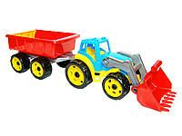 Игрушка Трактор с ковшом и прицепом 3688 ТехноК, фото 1