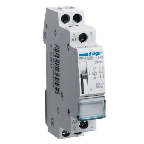 Импульсное  реле Hager EPN520 - 230В/16А, 2НО