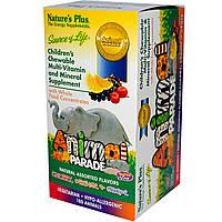 Жевательные мульти-витамины для детей, Nature's Plus, в форме животных, несколько вкусов, 180 таблеток.