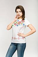 """Женская вышитая футболка """"Цветочная"""", фото 1"""