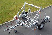 Прицеп для перевозки кабеля с гидравлическим наклоном, нагрузка   до 1000 кг