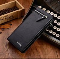 Портмоне клатч Baellerry Italia чёрный  мужской кошелек - стильный модный от 10 шт