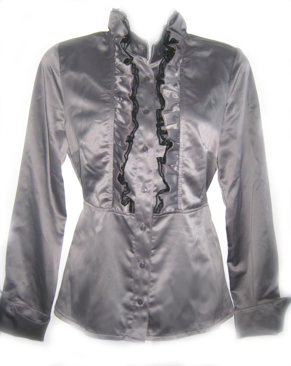 Блуза женская из атласа