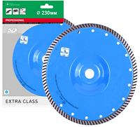 Круг алмазный Distar Turbo Extra Aero/F 230мм, отрезной диск с изогнутым корпусом по армированному бетону