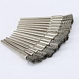 Щітка кінцева сталева 01С пряма дриль гравер бор машинка Dremel дриль свердло, фото 4