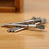 Щітка кінцева сталева 01С пряма дриль гравер бор машинка Dremel дриль свердло, фото 5