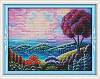 Набор для вышивки крестиком  Фантастический пейзаж 1