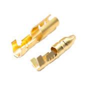 Коннектор разрезной круглый DJ211-3,5В (папа)(1-1,5 мм2) без изоляции (100 шт./ упаковка)