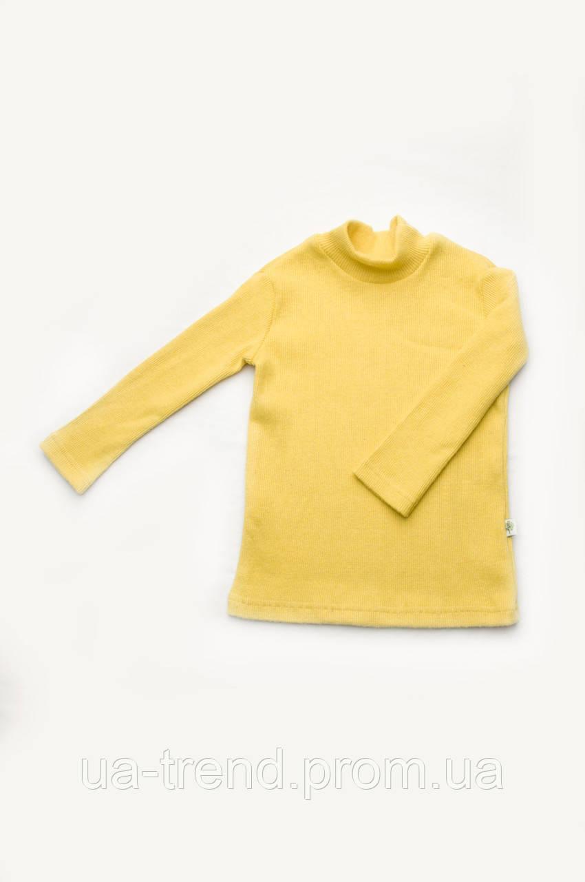Утепленный детский гольф желтого цвета
