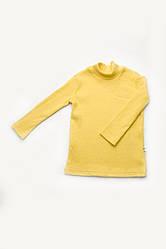 Утеплений дитячий гольф жовтого кольору
