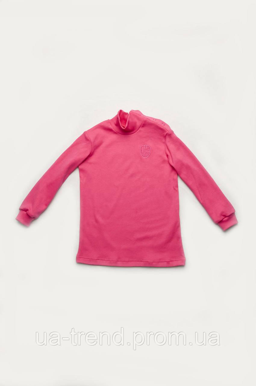 Гольф детский для девочки на пуговицах малинового цвета