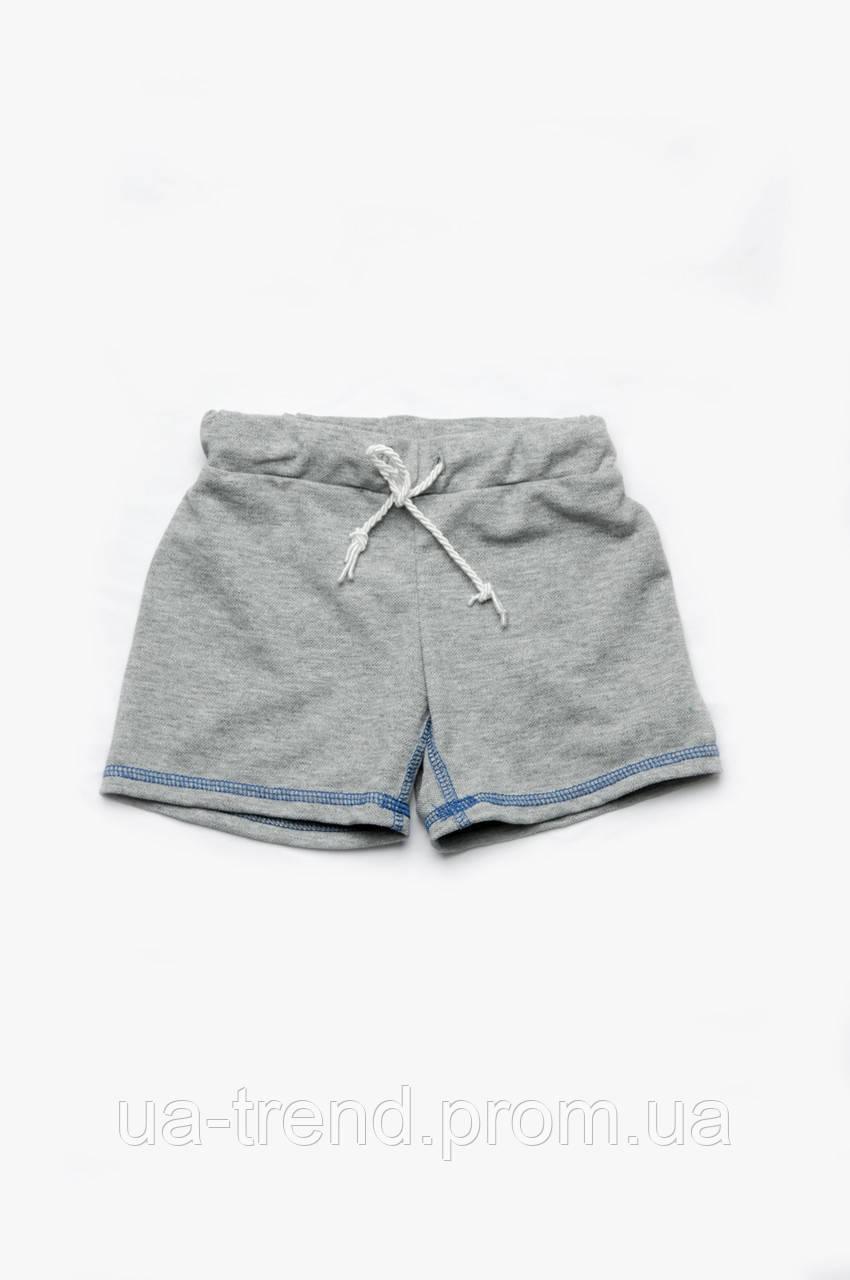Детские шорты для мальчика серые