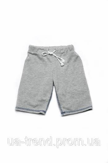 Шорты-бермуды для мальчиков серые (поло)