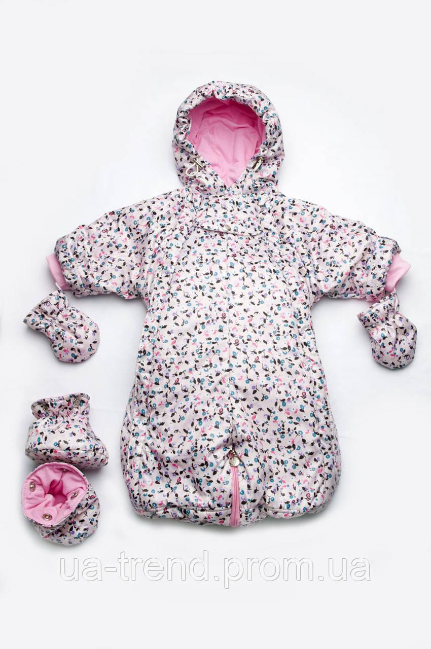 Комбинезон-трансформер демисезонный для девочки (розовый)