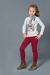 Утеплені зимові штани-скінні з начосом для дівчаток (червоні)