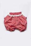 Детские шорты-панталоны для девочек с кружевом