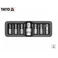 Набор бит TORX с отверстием T25-T55 7 ед. Yato YT-0416