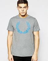 Стильная мужская футболка серая Fred Perry
