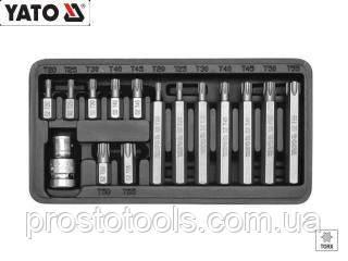 Набор бит TORX с отверстием T25-T55 15 ед. Yato YT-0417