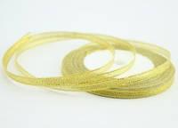 Лента парча 0, 6 см. золото