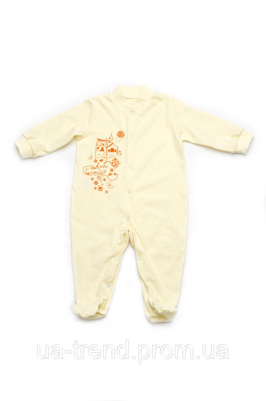 Комбинезон-человечек  для малышей молочный