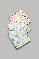 Комплект байковых пеленок для мальчика 3 шт