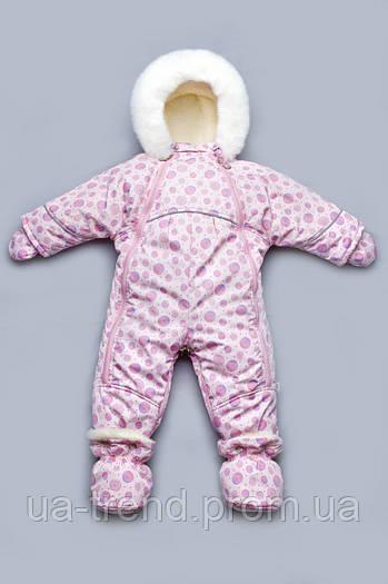 Комбинезон-трансформер  для новородженных  на овчине