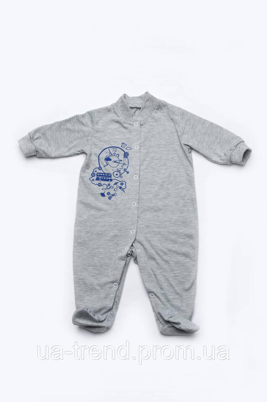 Летний комбинезон для новорожденного мальчика