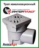 Трап канализационный 110 угловой с сухим затвором (15х15)  ПП