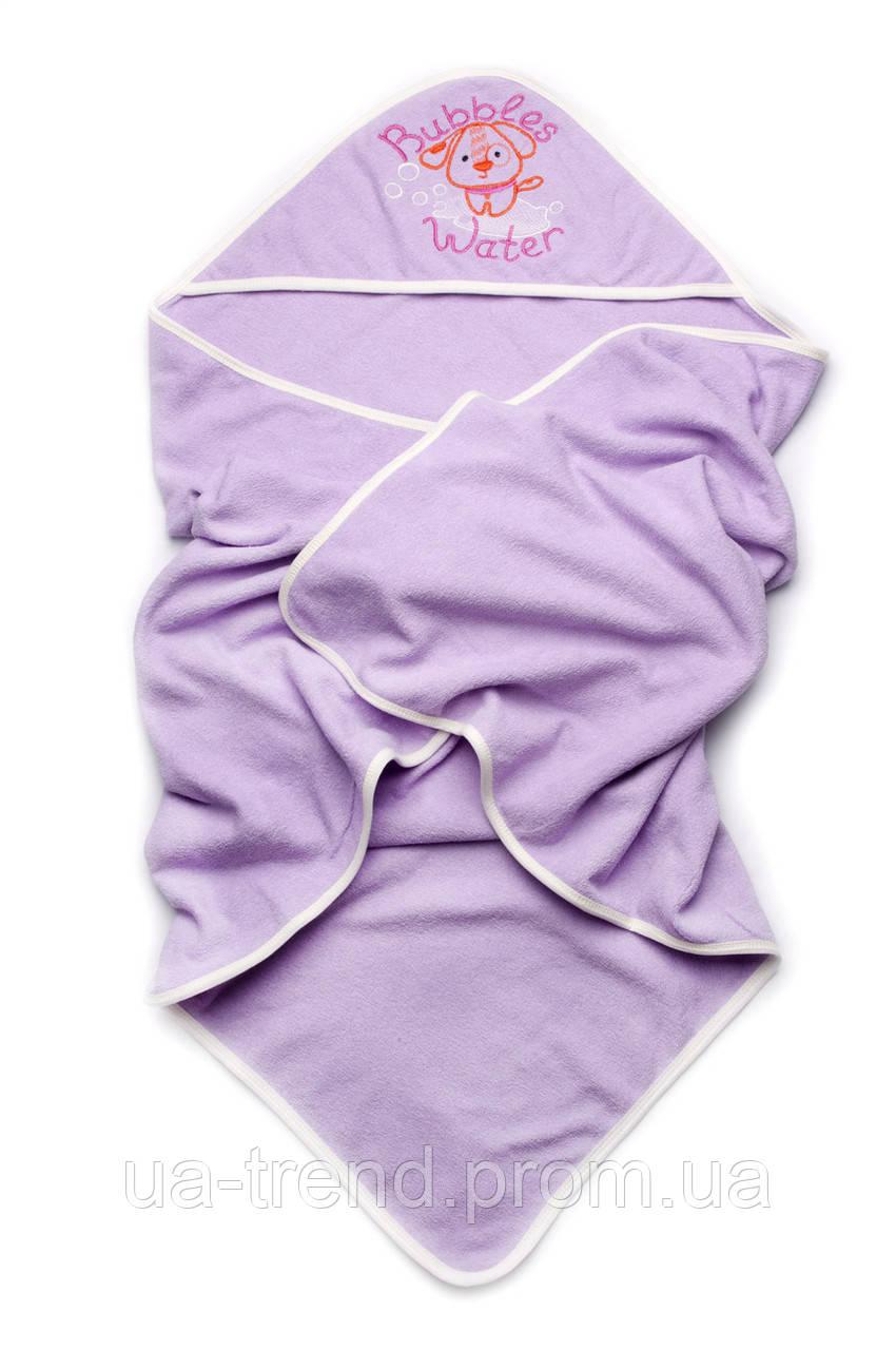 Полотенце махровое для купания с капюшоном (сирень)