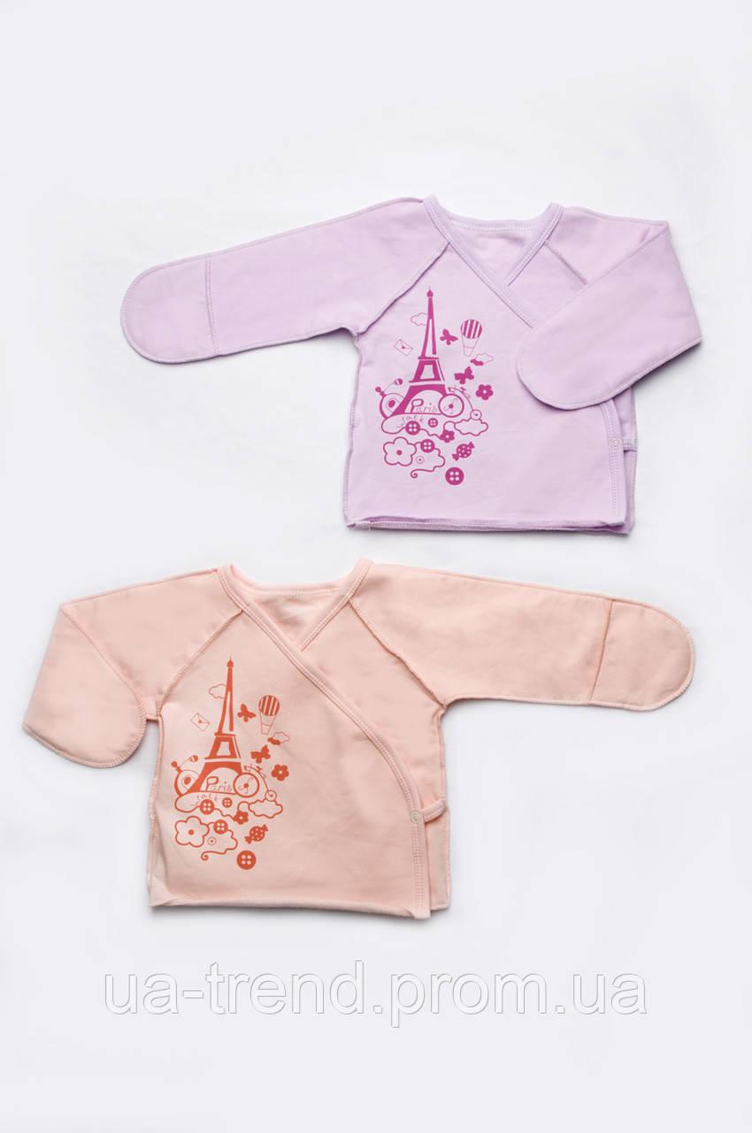 Сорочечка для новонародженої дівчинки з бавовни
