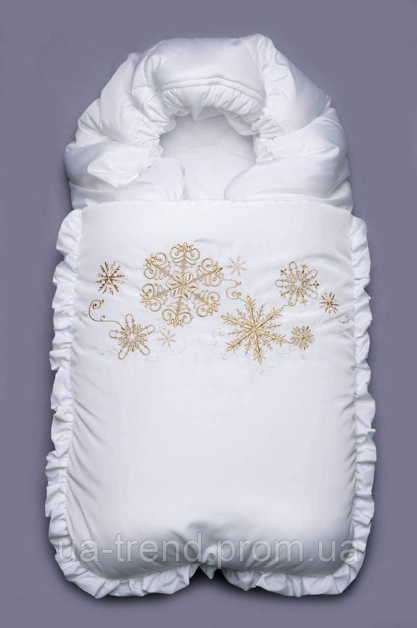 Конверт на выписку зимний белый