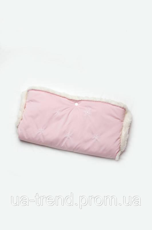 Муфта для коляски на овчині ( рожева )